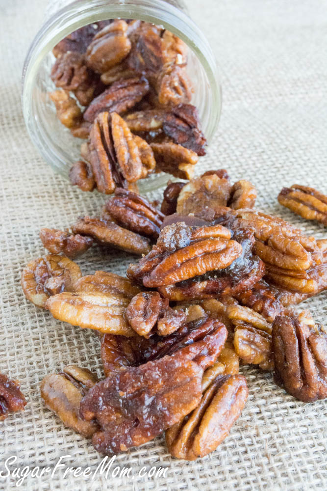 low carb sugar-free candied pecans