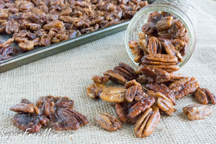 low carb candied pecans