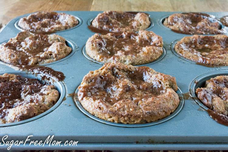 sugar free cinnamon roll muffins