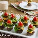 Mini Bun-less Cheeseburger Bites with Thousand Island Dip