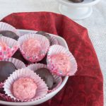 Sugar-Free No Bake Raspberry Cheesecake Truffles