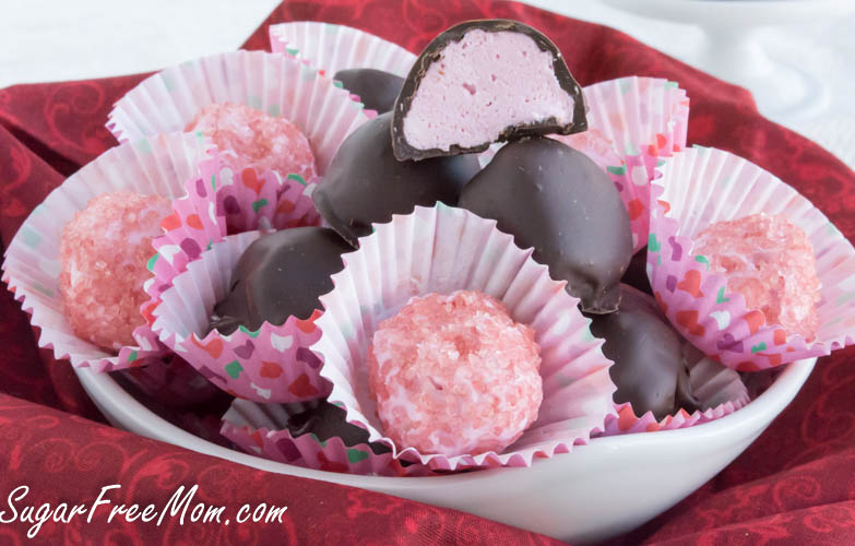 low carb raspberry truffles