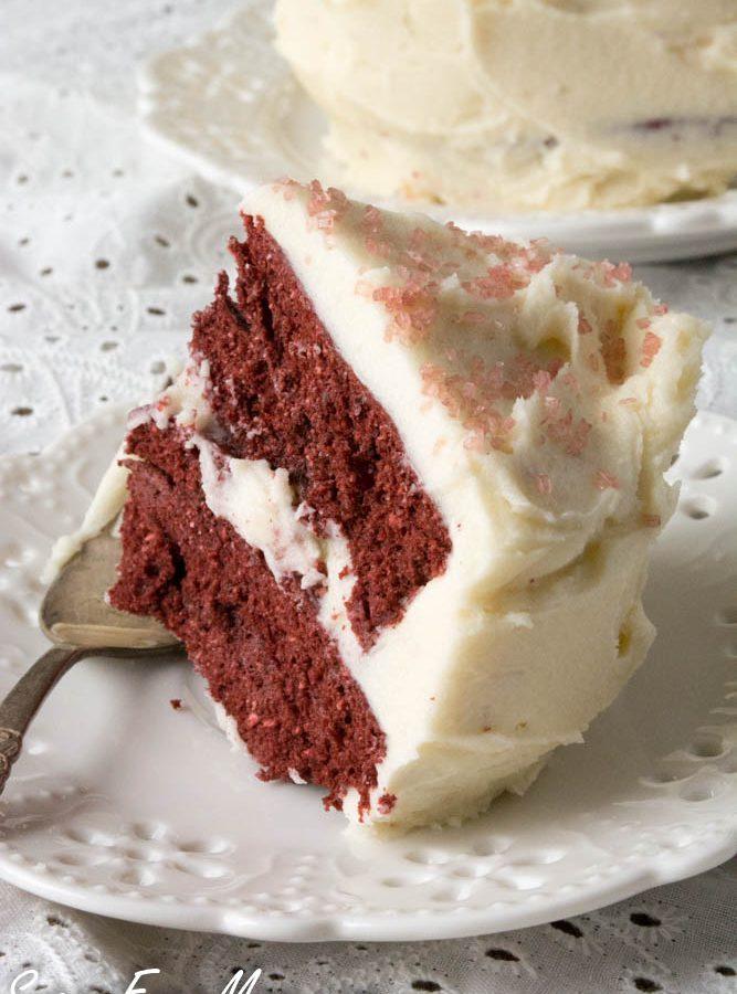 Sugar-Free Red Velvet Couple's Mug Cake (Low Carb, Keto)