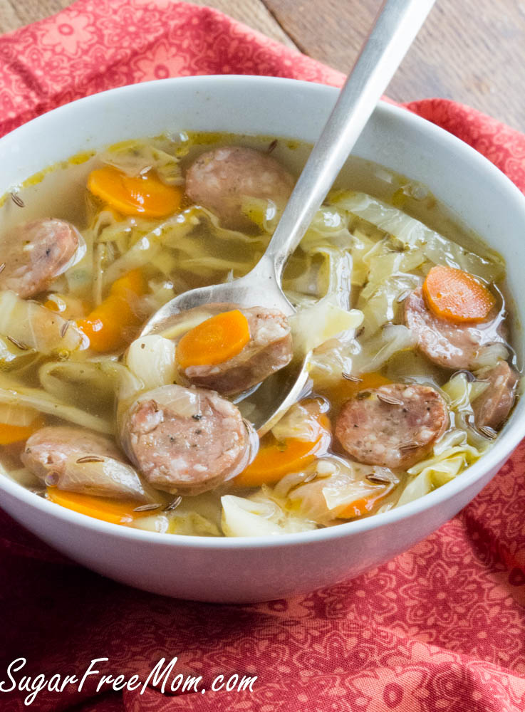 keto cabbage soup with sausage
