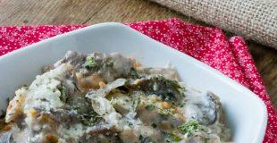 Beef Stroganoff Cauliflower Casserole