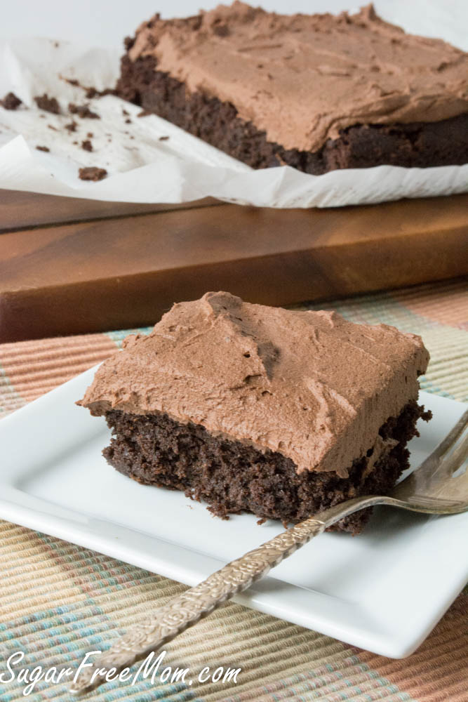 Sugar Free Low Carb Chocolate Crazy Cake { Egg Free, Dairy Free, Nut Free, Grain Free, Gluten Free}