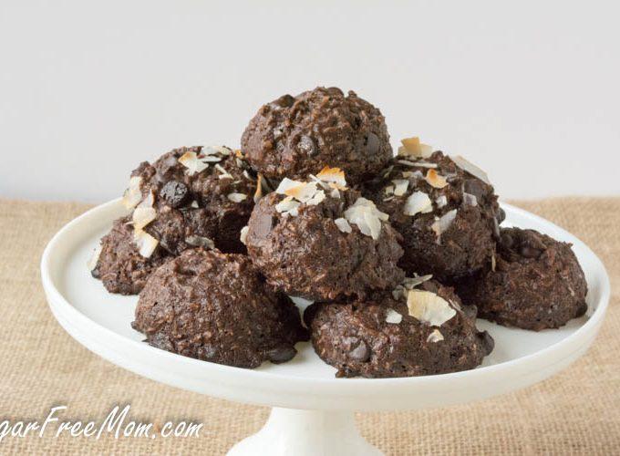 Flourless Sugar Free Chocolate Coconut Cookies