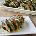 Grilled Cheesy Bacon Hasselback Zucchini