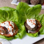Beef Zucchini Burgers with Feta Sauce