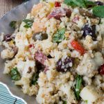 Low Carb Antipasto Cauliflower Rice Salad (Keto, Gluten Free)