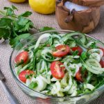 Low Carb Cucumber Noodle Lemon Gremolata