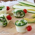 Low Carb Chicken Avocado Zucchini Roll Ups