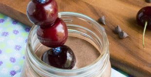 Low Carb Cherry Chocolate Protein Smoothie