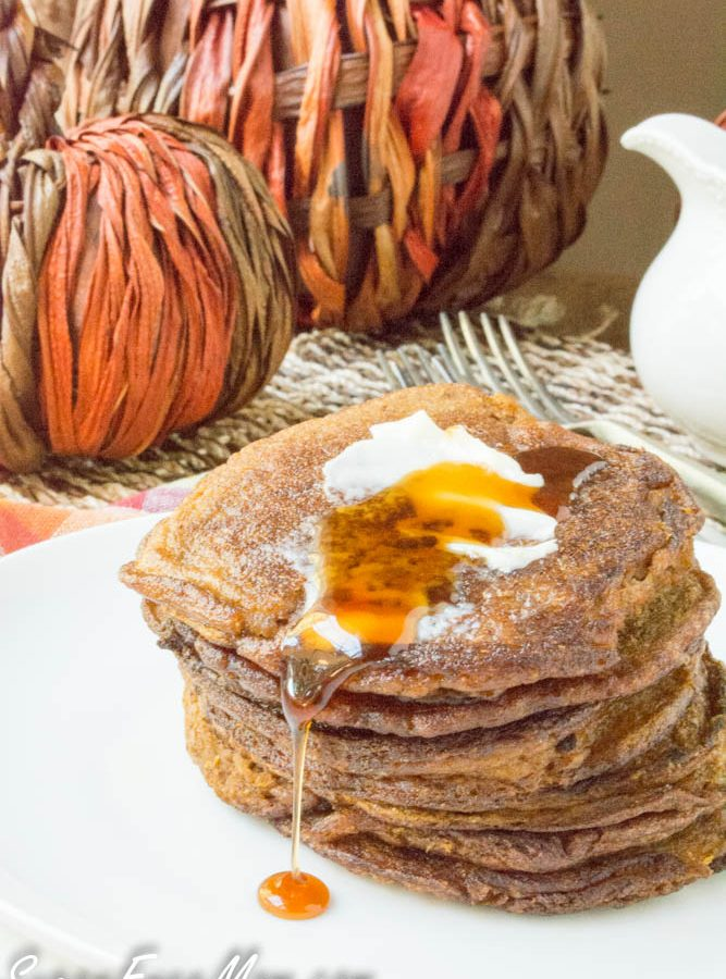 Grain Free Sugar Free Pumpkin Pancakes (Low Carb and Gluten Free)