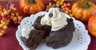 Sugar-Free Low Carb Chocolate Pumpkin Mug Cake