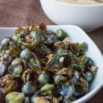 Roasted Brussels Sprouts with Salt & Pepper Cashew Dip
