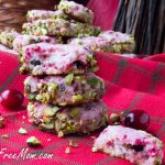 Grain Free Low Carb Cranberry Pistachio Cookies
