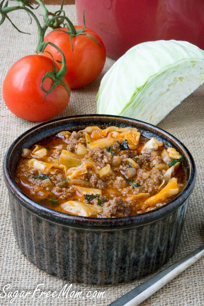 low carb cabbage roll soup