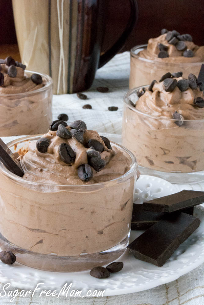 4 Ingredient Sugar Free Mocha Mousse