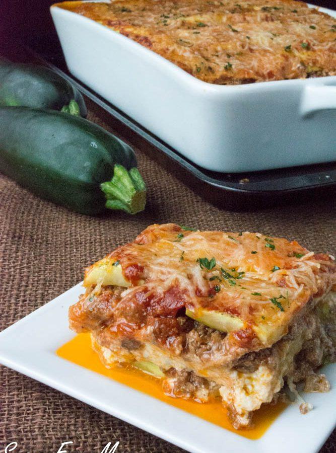 Low Carb Grain Free Zucchini Lasagna