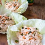 Low Carb Buffalo Ranch Chicken Salad Lettuce Wraps