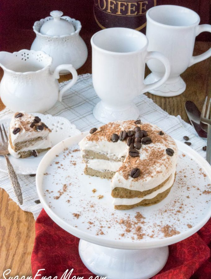 Sugar-Free Low Carb Tiramisu Mug Cake