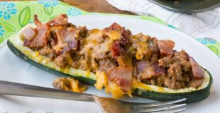 Bacon Cheeseburger Stuffed Zucchini Boats