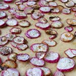 Roasted Salt & Pepper Radish Chips