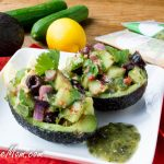 Mediterranean Salad Stuffed Avocado {Paleo & Low Carb}