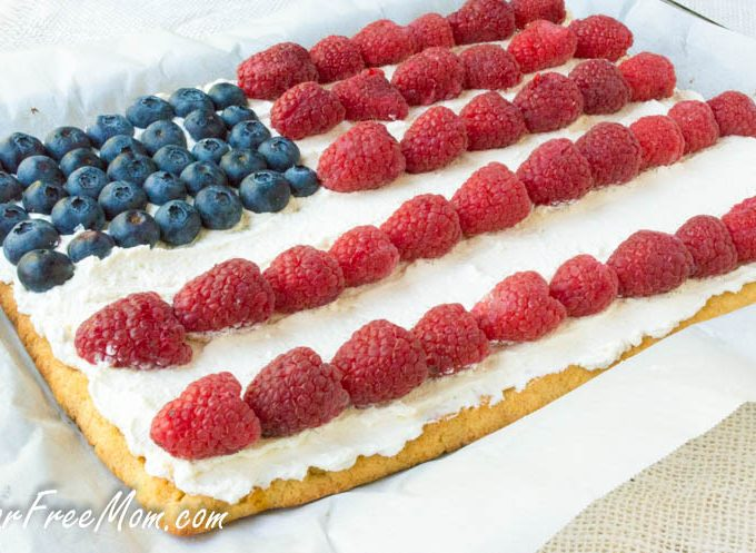 Low Carb Patriotic Dessert Pizza (Keto, Grain Free)