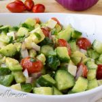 Avocado Tomato Cucumber Salad