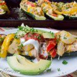 Easy Chicken Fajita Stuffed Zucchini