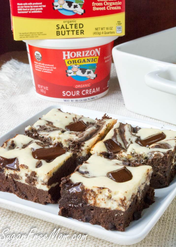 flourless cheesecake brownies-4
