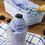 Low Carb Blackberry Gelato