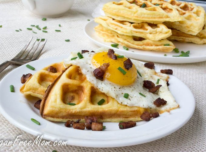 Low Carb Cloud Bread Cheddar Waffles (Keto, Gluten Free)