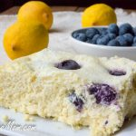 Slow Cooker Low Carb Blueberry Lemon Custard Cake (Keto, Gluten Free)