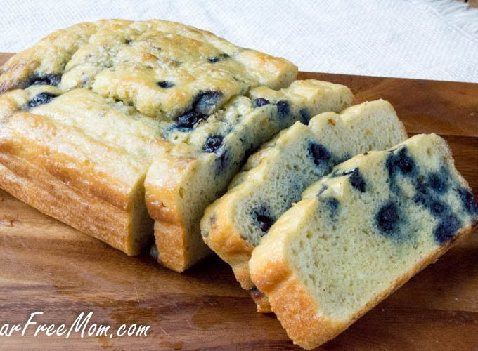 Low Carb Blueberry English Muffin Bread Loaf