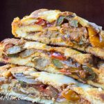 Low Carb Grain Free Chicken Sausage Pepper Calzone
