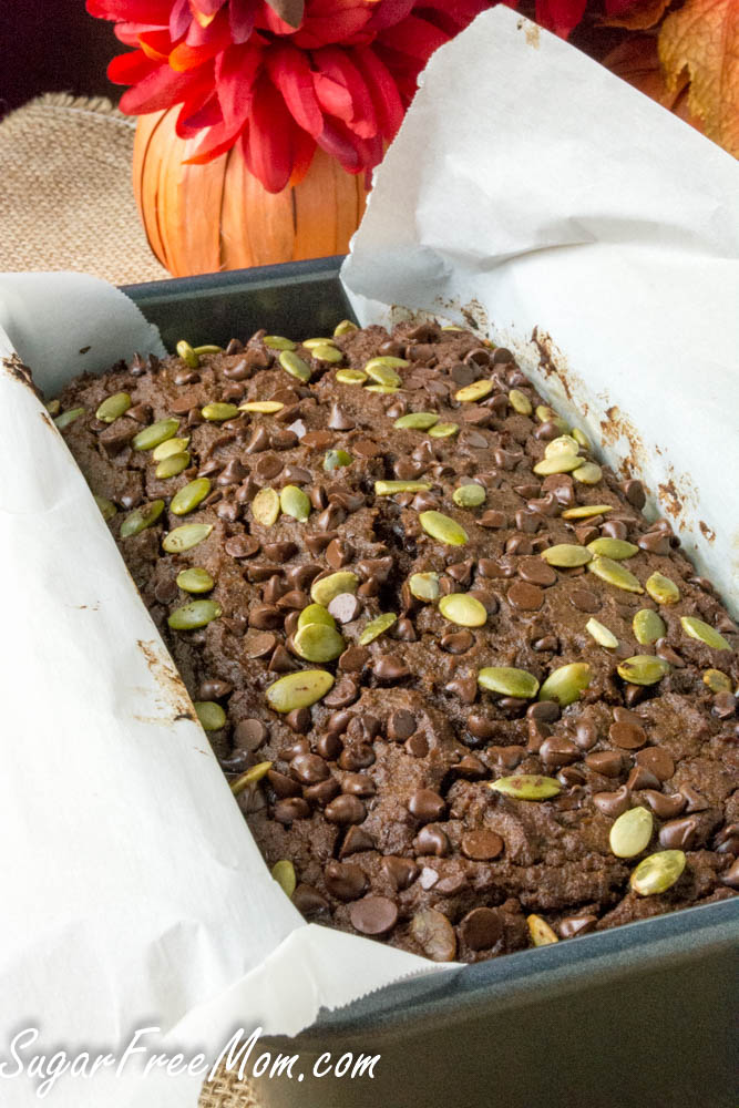 sugar free chocolate-pumpkin-bread