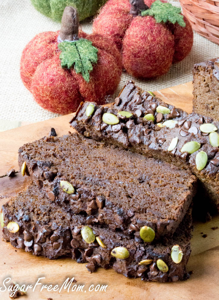 keto chocolate-pumpkin-bread