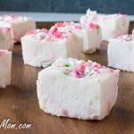 Paleo Sugar-Free White Chocolate Peppermint Fudge