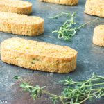 Savory Cheddar Herb Biscotti {Low Carb and Gluten Free)