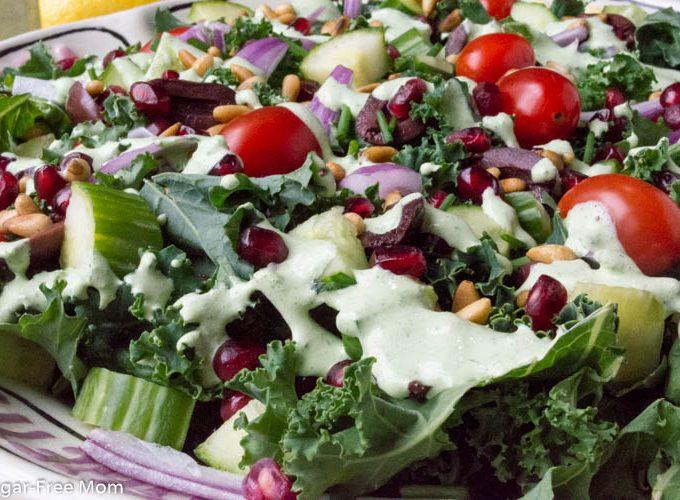 Low Carb Greek Goddess Kale Salad