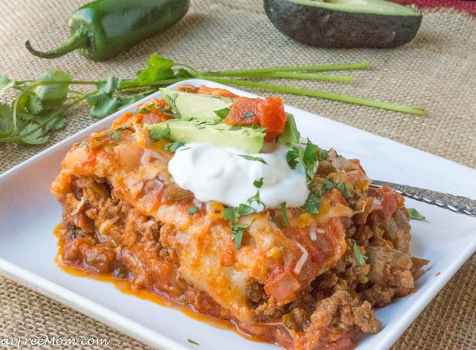 Low Carb (Sneaky Cauliflower) Mexican Lasagna