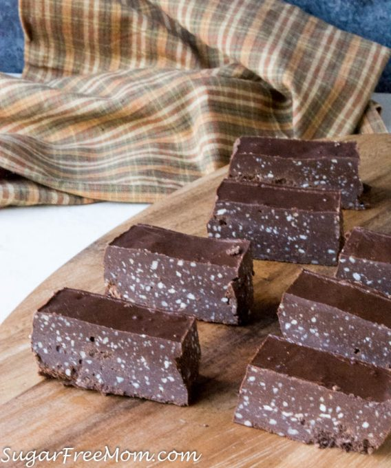 Low Carb Chocolate Fudge Protein Bars Nut Free