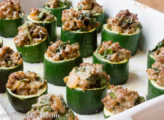 Cheesy Sausage Spinach Zucchini Cups (Gluten Free, Low Carb)