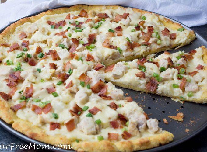 Low Carb Chicken Alfredo Pizza (Gluten Free, Nut Free)