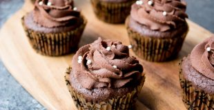 Low Carb (Nut Free) Chocolate Ganache Filled Cupcakes
