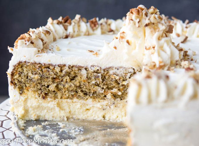 Low Carb Carrot Cake Cheesecake (Nut Free, Gluten Free)