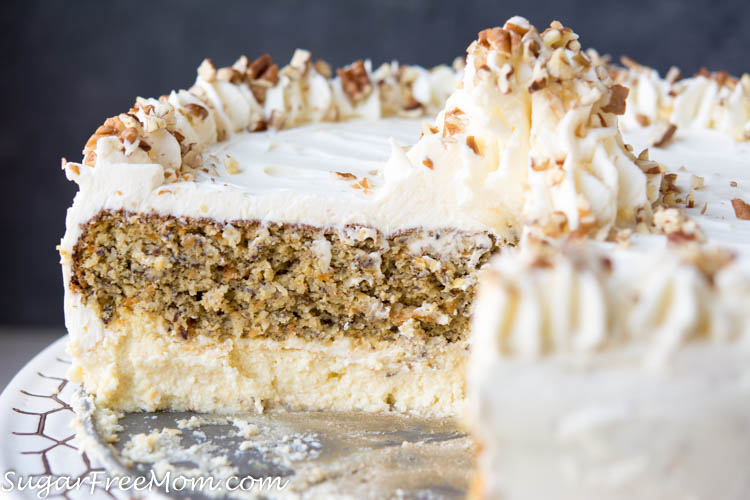 Low Sugar Cake Icing Recipes: Low Carb Carrot Cake Cheesecake (Keto, Nut Free, Gluten Free